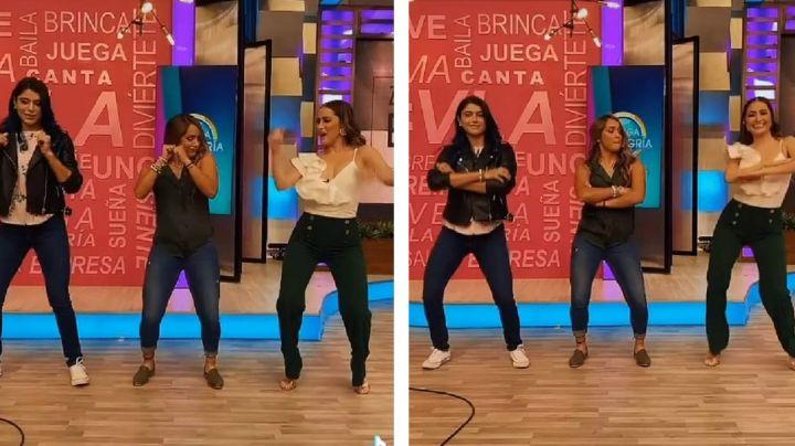 Cynthia Rodríguez y exatletas de 'Exatlón' deleitan a fans con coqueto baile en 'VLA'