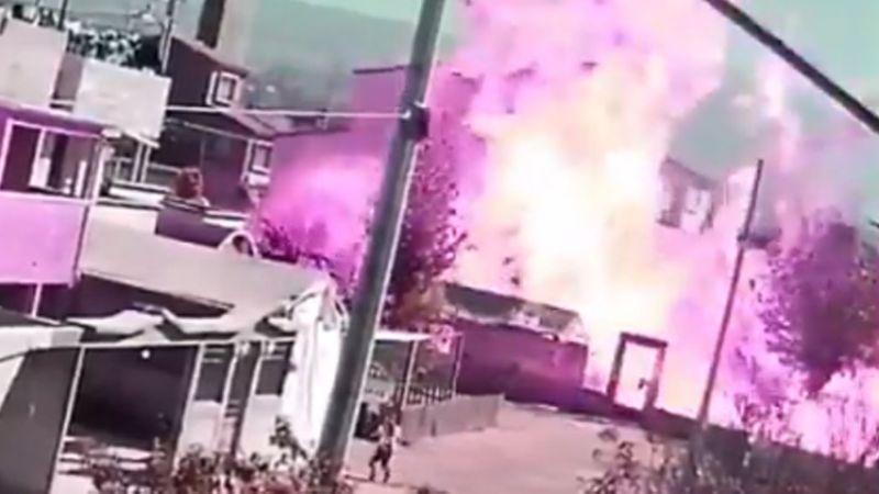 VIDEO: El momento exacto en el que explota una pipa de gas y causa el terror en Edomex