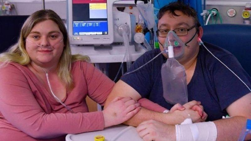 Pareja con Covid-19 se casa antes de que el novio fuera intubado