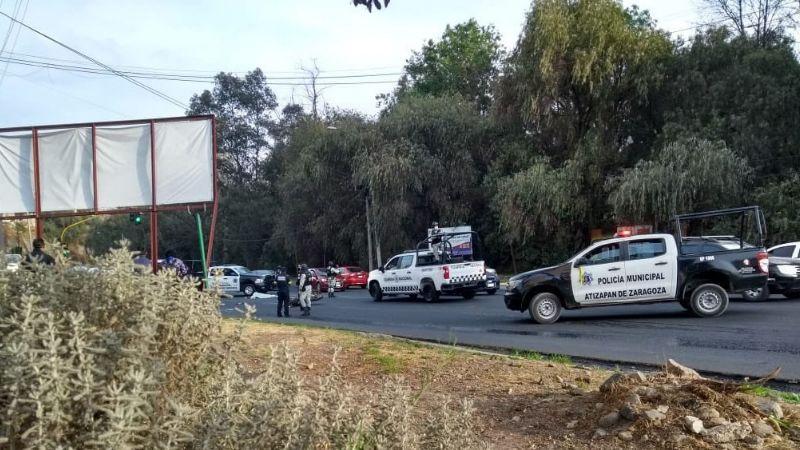 Imprudente conductor provoca la muerte de una persona tras embestirla en Edomex