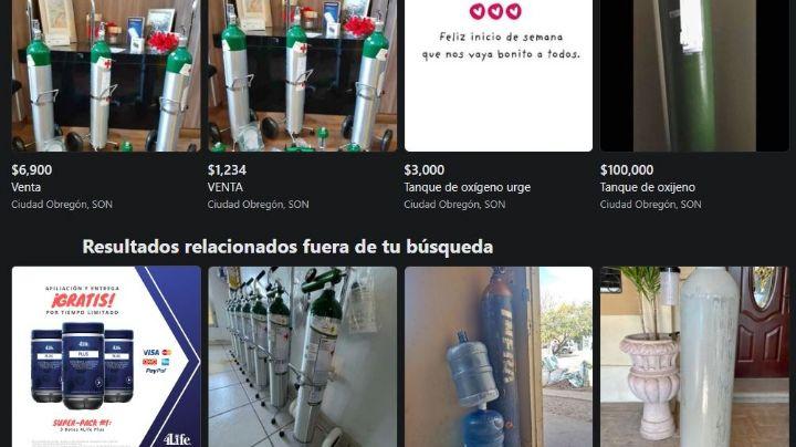 ¡Alerta en Cajeme! Por posibles fraudes en la venta por Internet de tanques de oxígeno