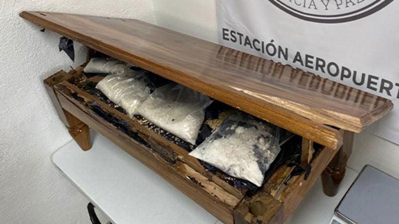 Descubren mesa rellena de metanfetamina en Michoacán; viajaba rumbo a Texas