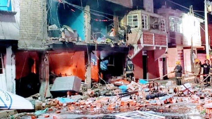 Se registra explosión en Ixtapaluca; 20 casas resultan afectadas y hay riesgo de colapso