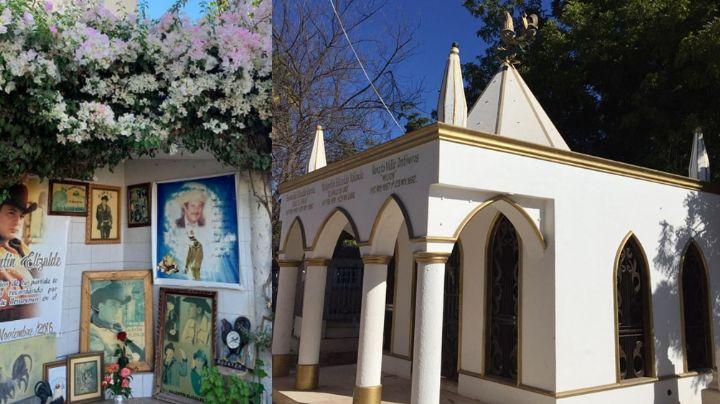 Valentín Elizalde 'El Gallo de Oro' descansa en esta capilla junto a los restos de su padre