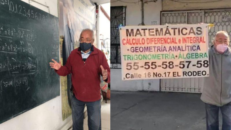 Ante la crisis: Abuelito de 80 años que ofreció clases de matemáticas ya tiene alumnos