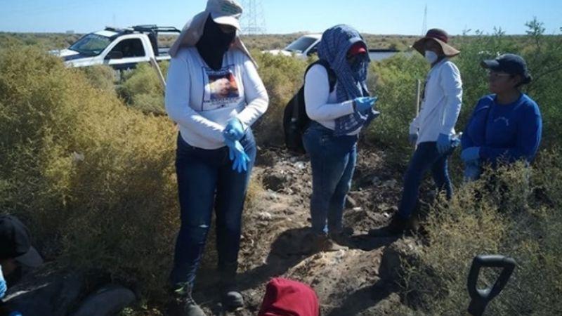 Guaymas: Colectivo de mujeres buscadoras encuentran restos en Ortiz