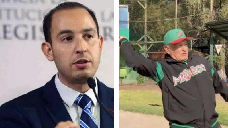 """""""La gente sigue muriendo"""": Dirigente del PAN critica a AMLO por jugar beisbol"""