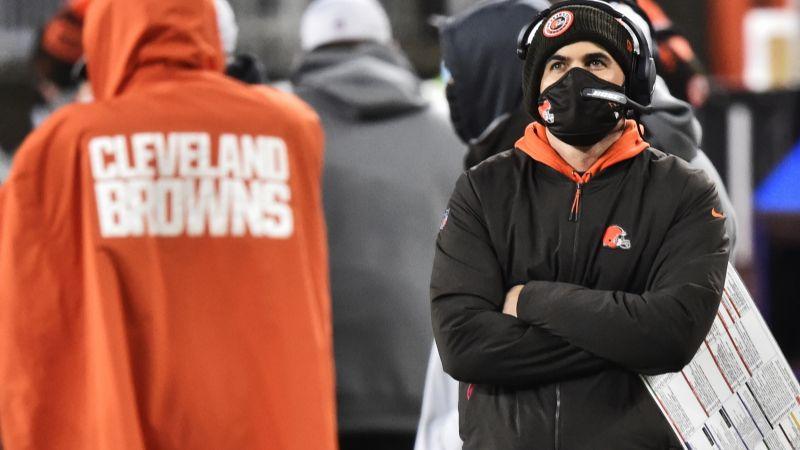 Covid-19 taclea de nuevo a los Browns; Stefanski positivo y fuera de playoffs