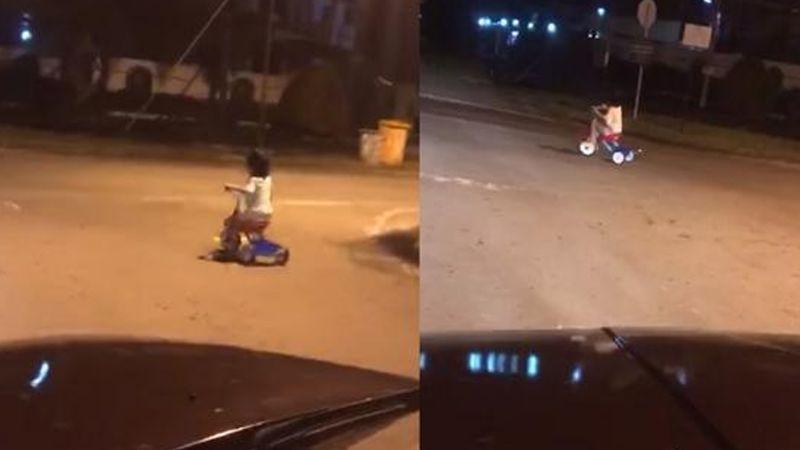 'Niño Fantasma' recorre las calles de Malasia a las 3 de la madrugada y atemoriza a ciudadanos