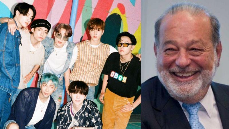 Fanáticos de BTS 'ruegan' a Carlos Slim para que traiga a la famosa banda a México