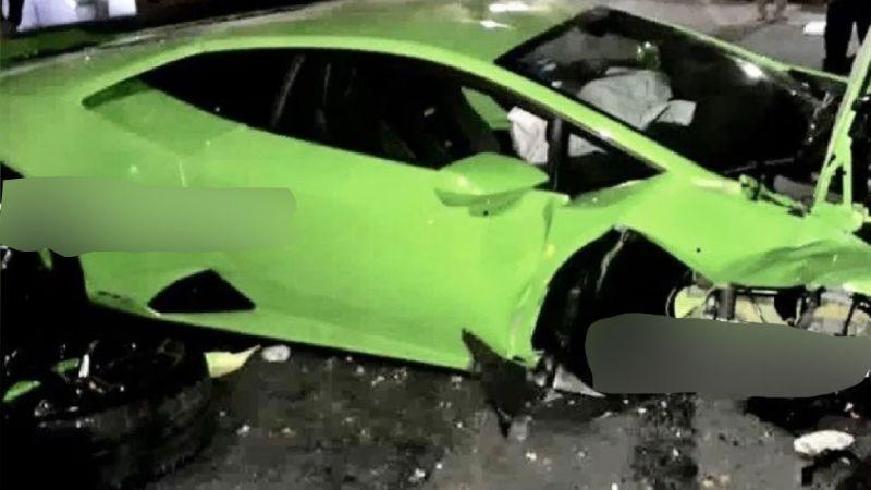 Revelan la identidad del dueño del Lamborghini destrozado que fue abandonado en Polanco