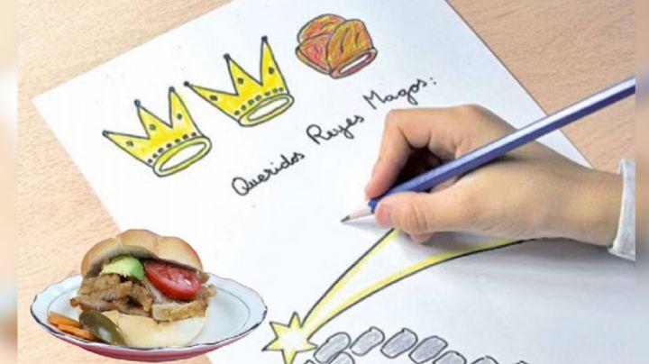 """""""1 torta de milanesa"""": Esta es la petición de un adorable niño a los Reyes Magos"""