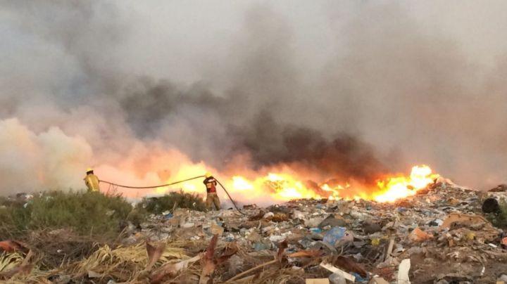 Incendios en basurones de Navojoa  movilizan a Bomberos