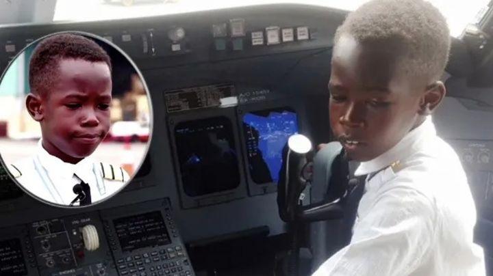 Niño impacta a millones en el mundo al lograr pilotar un avión con solo 7 años de edad