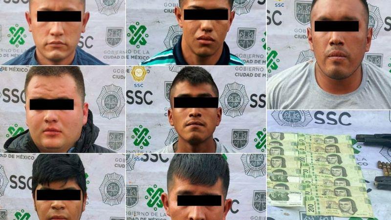 Tras asaltar a joven, siete extorsionadores de La Unión Tepito son detenidos