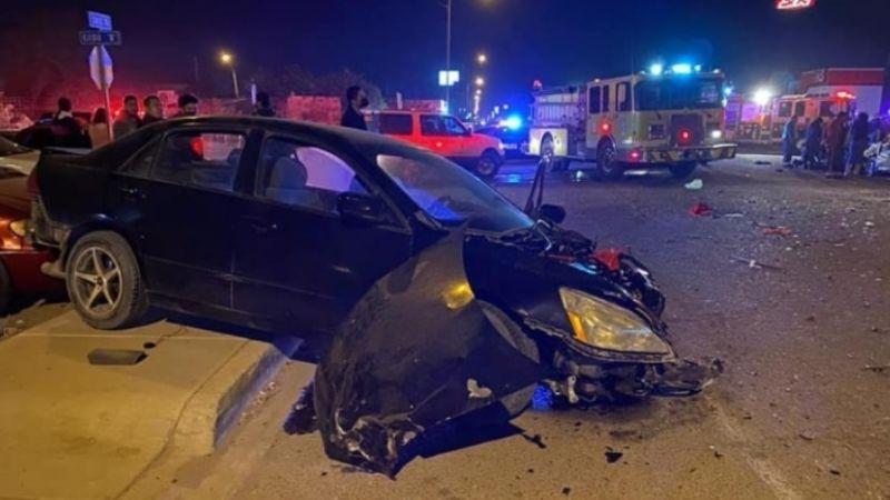 SLRC: Muere joven 22 tras aparatoso choque entre tres automóviles