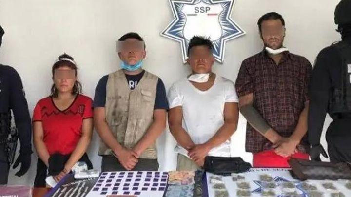 Arrestan a cuatro por posesión de droga y robo; pertenecen al cártel de 'La Reina del Sur'