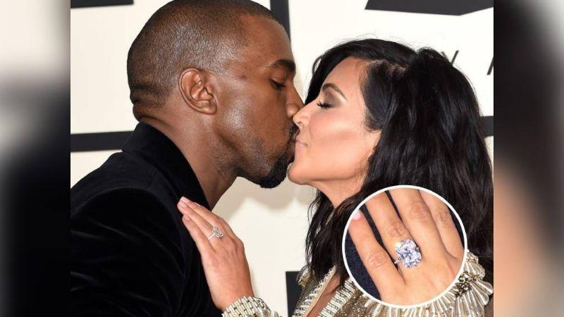Kim Kardashian es vista sin su enorme anillo de bodas en medio de rumores de divorcio