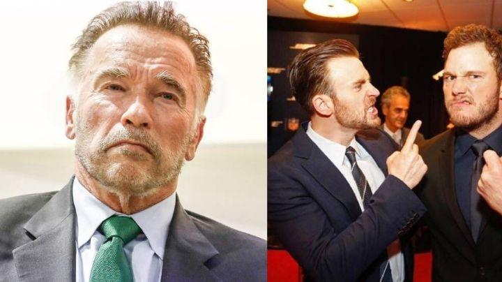 Chris Pratt es avergonzado por su suegro Arnold Schwarzenegger tras confundirlo con Chris Evans