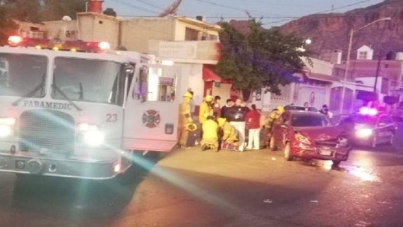 Guaymas: Fuerte accidente vehicular en el Centro deja saldo de un lesionado