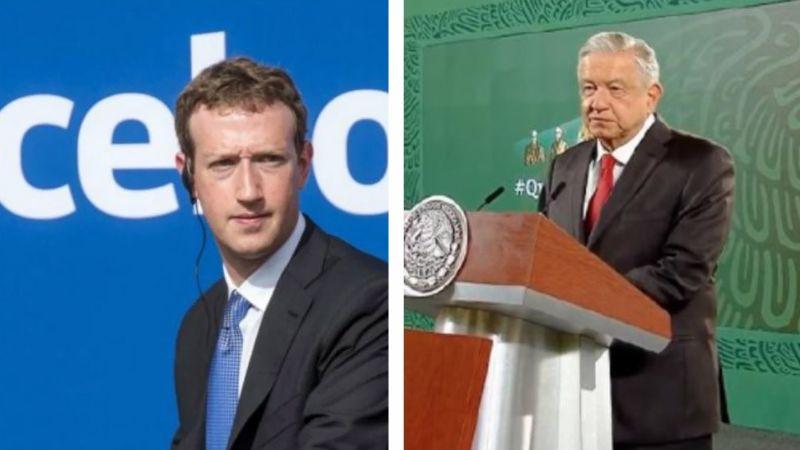 """""""Prepotencia"""": AMLO, en contra de Mark Zuckerberg por bloquear a Donald Trump"""