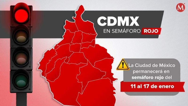"""""""Se mantienen las medidas"""": CDMX y Edomex permanecen en semáforo rojo"""