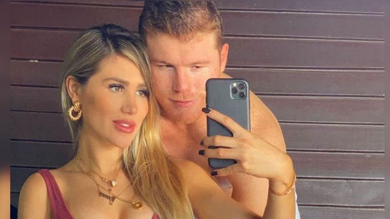 'Canelo' descarta rumores de separación al posar junto a su novia y su hija