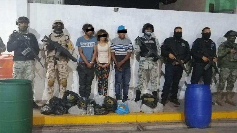Autoridades municipales y estatales decomisan hasta 25 kilos de droga en Ciudad Obregón