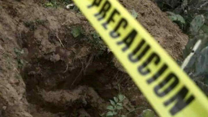 Hallan tres cadáveres enterrados en fosa clandestina; llevarían 10 años desaparecidos