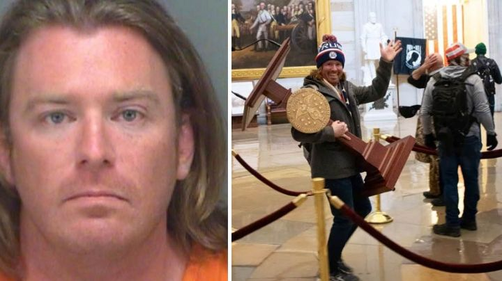 FBI captura al hombre que robó el atril de Nancy Pelosi en los disturbios del Capitolio
