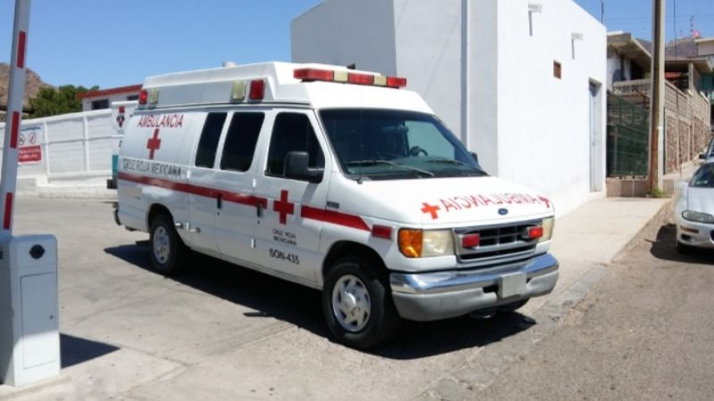 Guaymas: Cruz Roja traslada a hospital a menor quemada con agua hirviendo