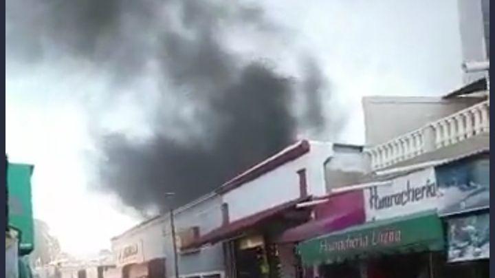 VIDEO: Así se vivió el voraz incendio que arrasó con un negocio en el centro de Hermosillo