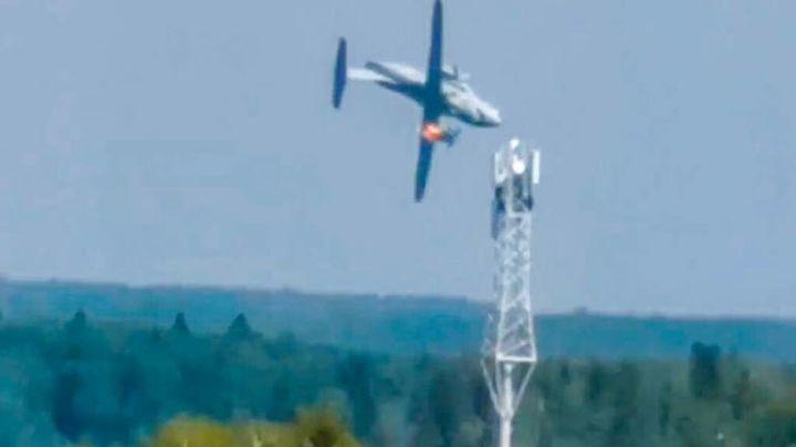Pánico en Rusia: Más de 10 personas mueren tras colisión de un avión; VIDEO muestra el accidente