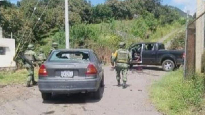 Caos en Michoacán: Enfrentamiento armado dejo como saldo una persona muerta