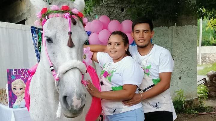 FOTOS: Familia festeja el 'baby shower' de 'Camila', su yegua; hay pastel y regalos