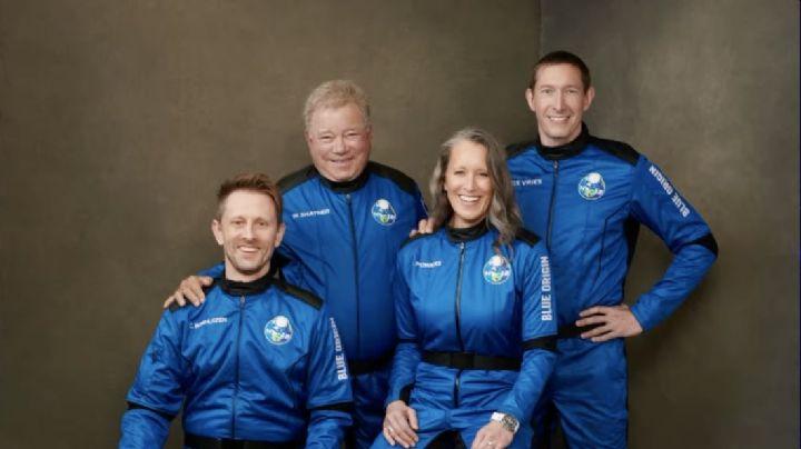 ¡Histórico! William Shatner, de 'Star Trek', visita el espacio con el Blue Origin de Jeff Bezos