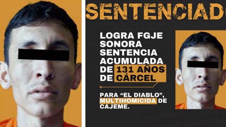 Dan 131 años de cárcel a 'El Diablo' en Cajeme; asesinó a dos personas y atacó a militares