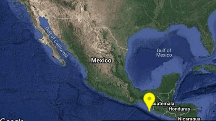 Sismo de 3.6 remece Chiapas; su epicentro fue en el suroeste de Mapastepec