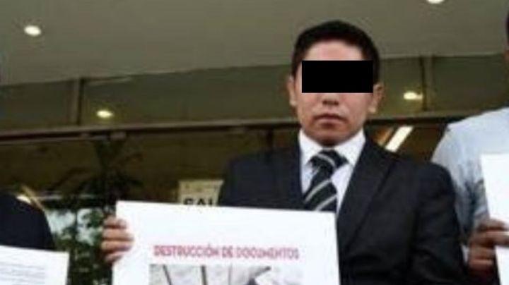 Él es Heriberto, excolaborador de Ana Guevara, candidato a diputado y presunto extorsionador