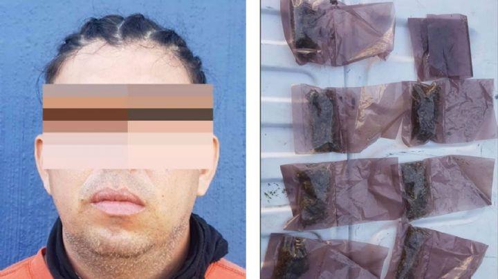 Motociclista ciculaba a exceso de velocidad, lo detienen y le encuentran droga en Hermosillo