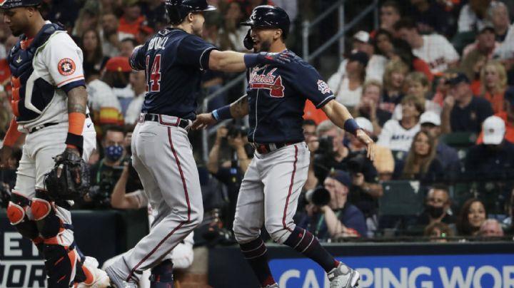 ¡Bravo comienzo! Atlanta pega primero ante Astros en el arranque de la Serie Mundiales