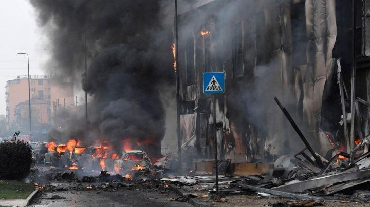 VIDEO muestra fatídica colisión de avión con edificio en Milán; hay 8 víctimas mortales