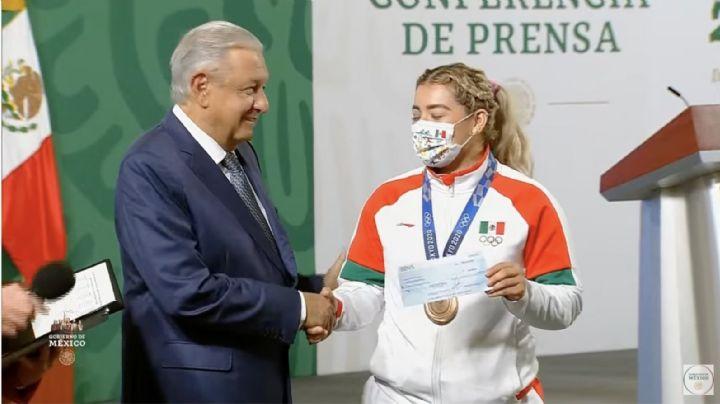 Tokio 2020: Tras mostrar resultados de la rifa, AMLO da estímulo millonario a atletas mexicanos