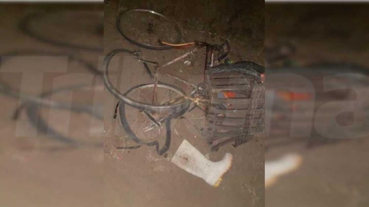 Cajeme: Abordo de su bicicleta, muere 'abuelito' embestido por una camioneta
