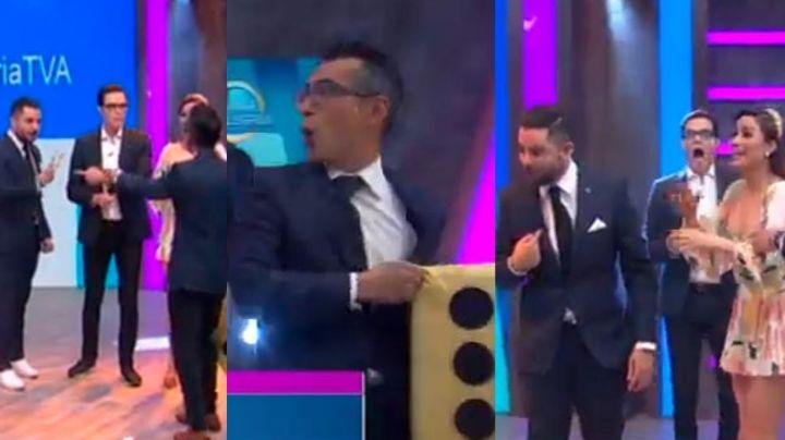 """""""¡Tú cállate!"""": Conductores de 'VLA' se pelean en vivo; Ricardo hasta empujó a Sergio Sepúlveda"""