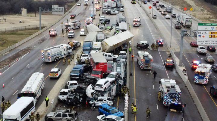 Mega carambola en carretera de Texas deja saldo de cinco muertos