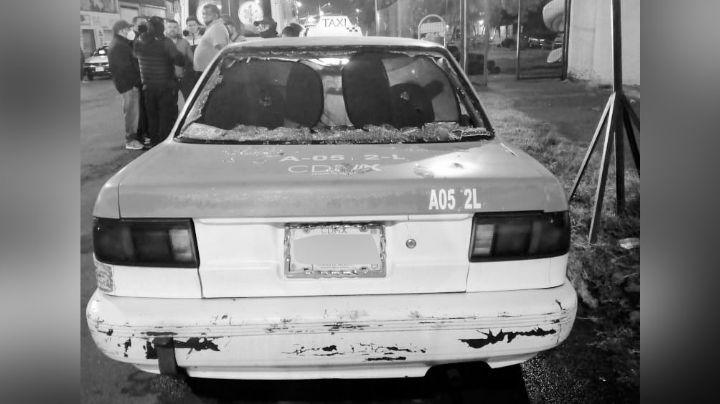 Ataque armado en contra de un taxista deja como saldo un muerto y un lesionado