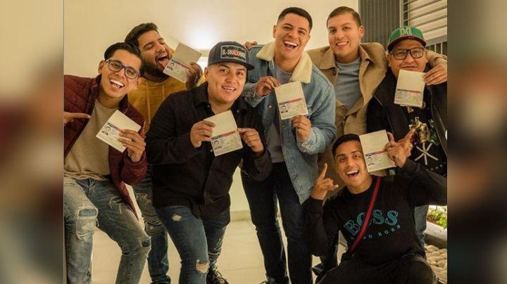 Grupo Firme disfruta sus visas aprobadas; hacen aparición en redes desde Miami