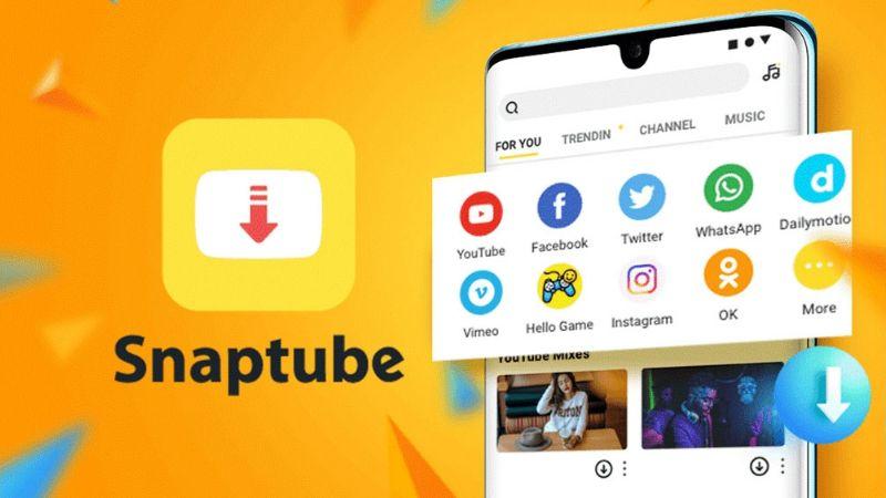 ¡Con solo dar un clic! Snaptube da el beneficio de música y videos en tu celular