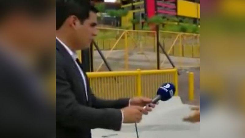 VIDEO: Reportero sufre violento asalto mientras esperaba entrar en vivo